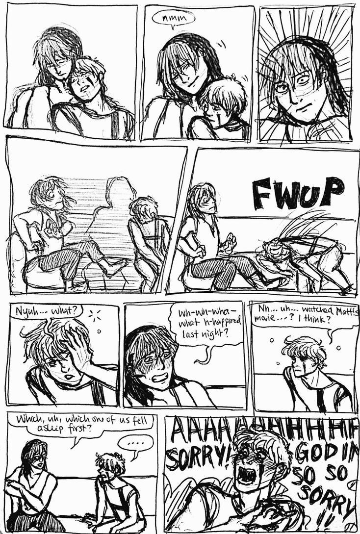 OC : dumb kids are dumb on a sofa by Scarabsi