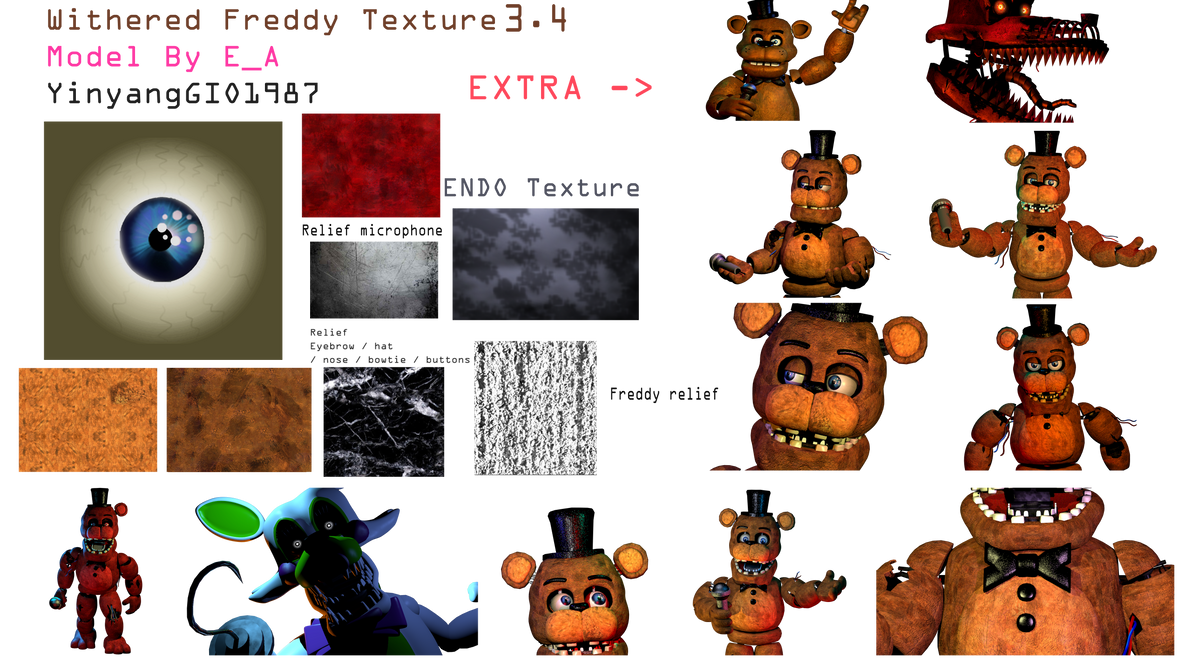 Fixed Texture Withered Freddy 34 By Yinyanggio1987 On Deviantart