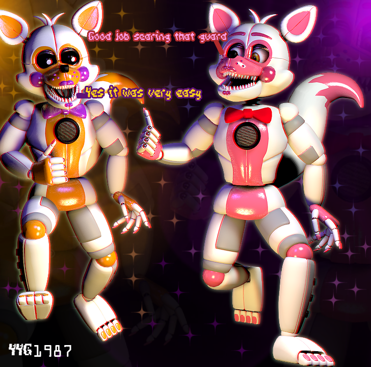 Funtime foxy and lolbit by yinyanggio1987 on deviantart