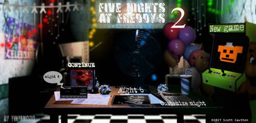 Edits| Menu FNAF 2 My version