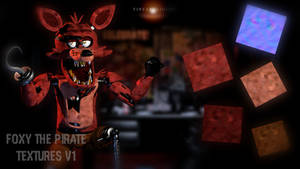 C4D|FNAF|Textures|Foxy The Pirate Textures V1 by YinyangGio1987