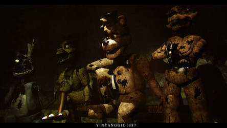 C4D|FNAF2|Wallpaper|They didn't forget us by YinyangGio1987