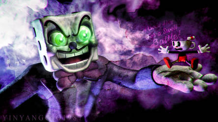 C4D|Cuphead|King dice has an ace up his sleeve. by YinyangGio1987