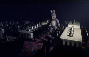 C4D|FNAF|Dawn by YinyangGio1987