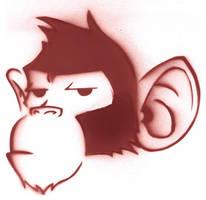 Monkey Stencil by Kelden17