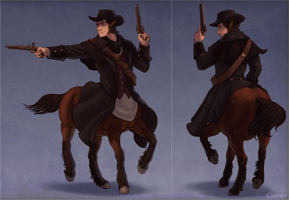Highwayman centaur by Coldevey
