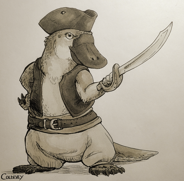 Piratypus by Coldevey