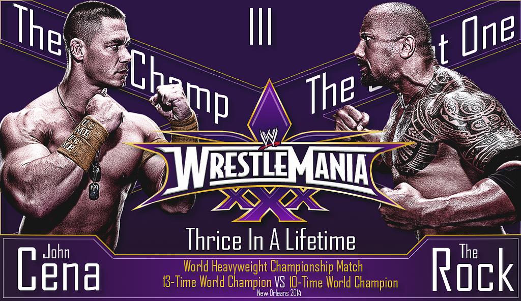 John Cena vs The Rock : Thrice In A Lifetime by TheElectrifyingOneHD