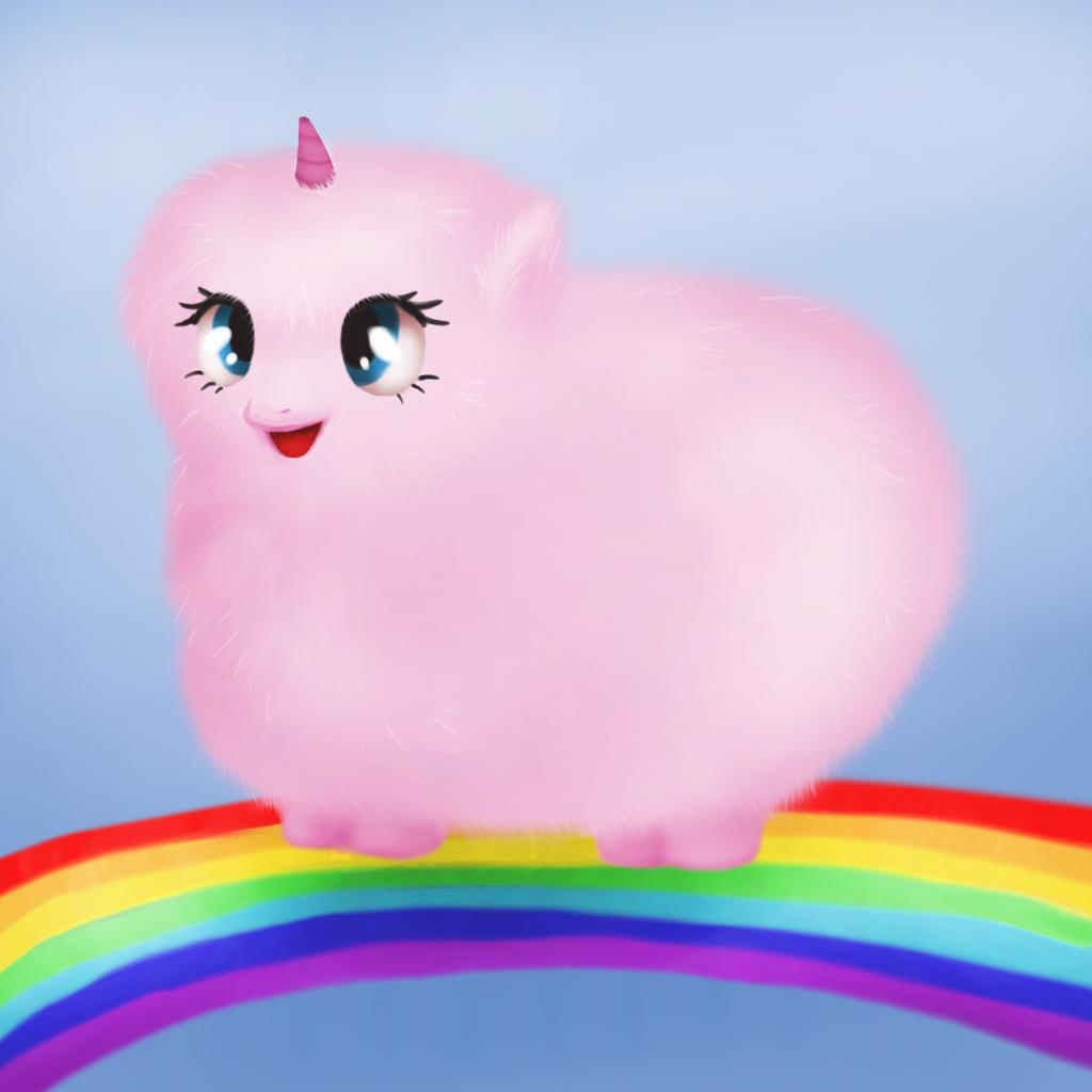 Pink Fluffy Unicorns Dancing On Rainbows Animation