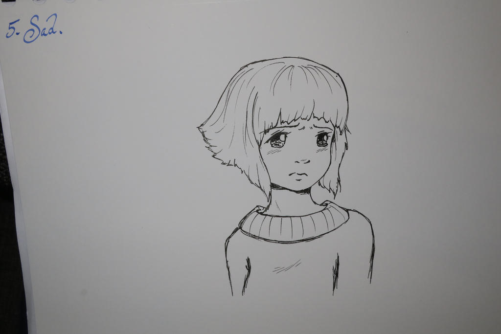 Inktober #5 - Sad by Vilviel