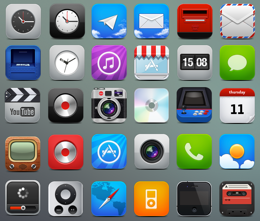IPhone HD Icons By Fenixtx22 On DeviantArt