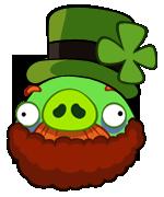 Leprechaun Mustache Pig by mustachepigplz