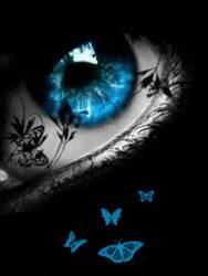 The Blue Butterfly Eye