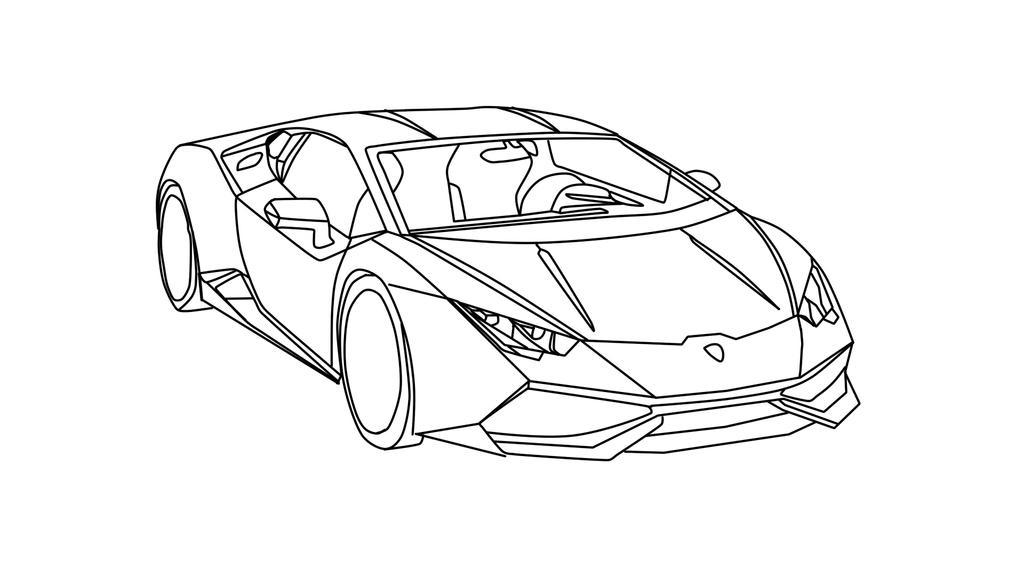 Lamborghini Huracan Drawing Outline