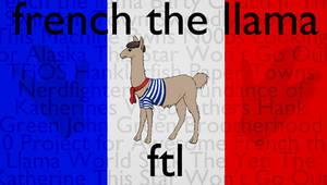 French the Llama Wallpaper