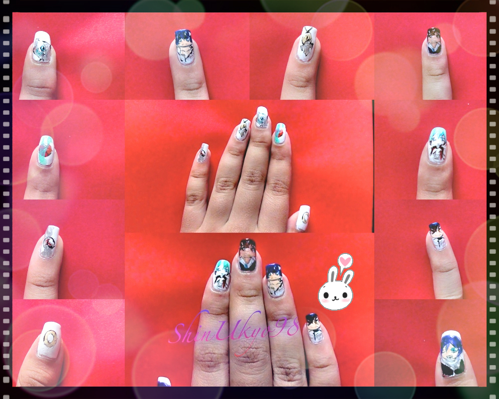 Nail art recent anime series by shinukyo98 on deviantart nail art recent anime series by shinukyo98 prinsesfo Gallery