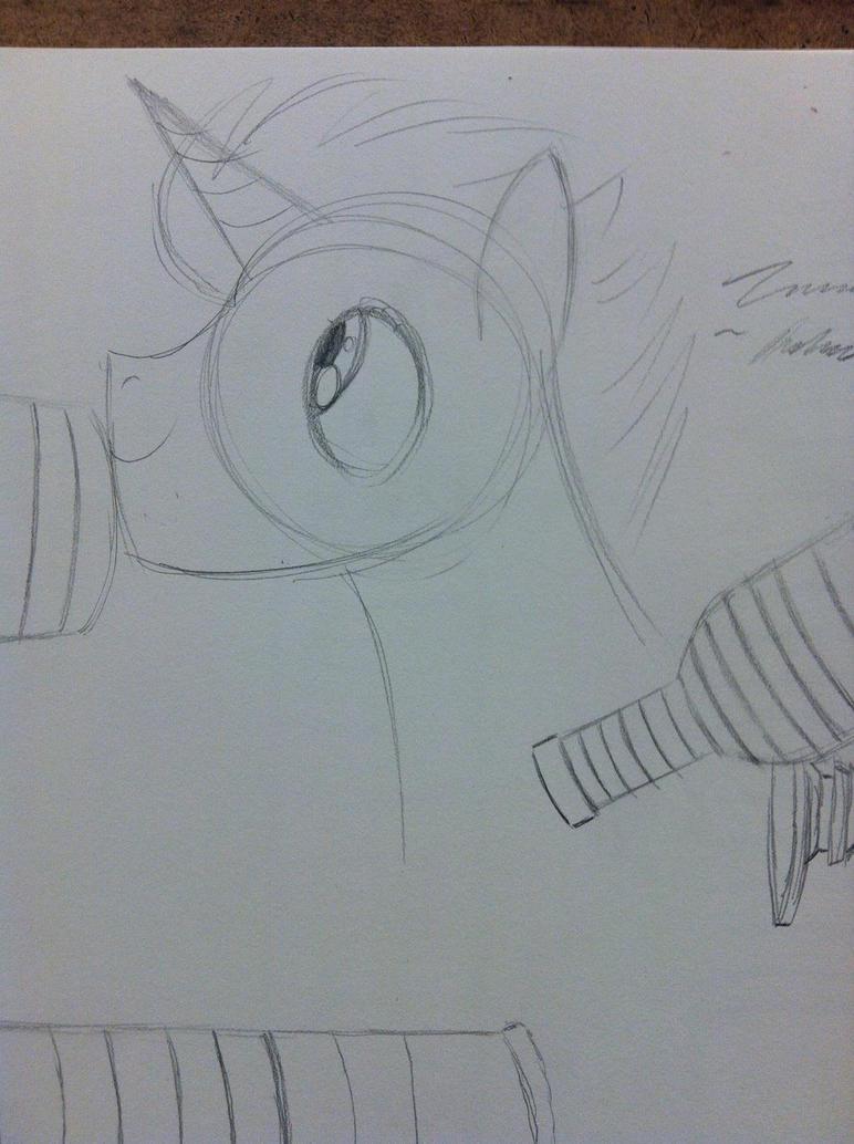 Pony doodle by JSPatronus