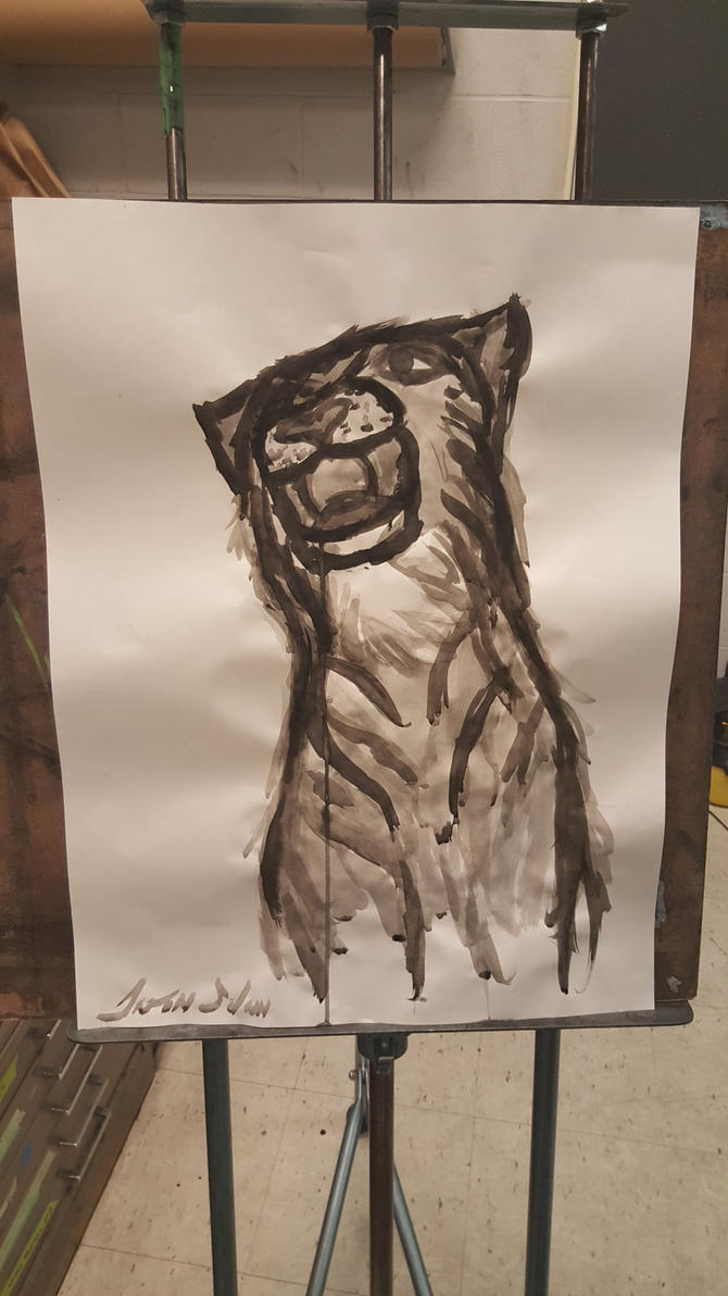 Tiger Ink wash painting by JSPatronus