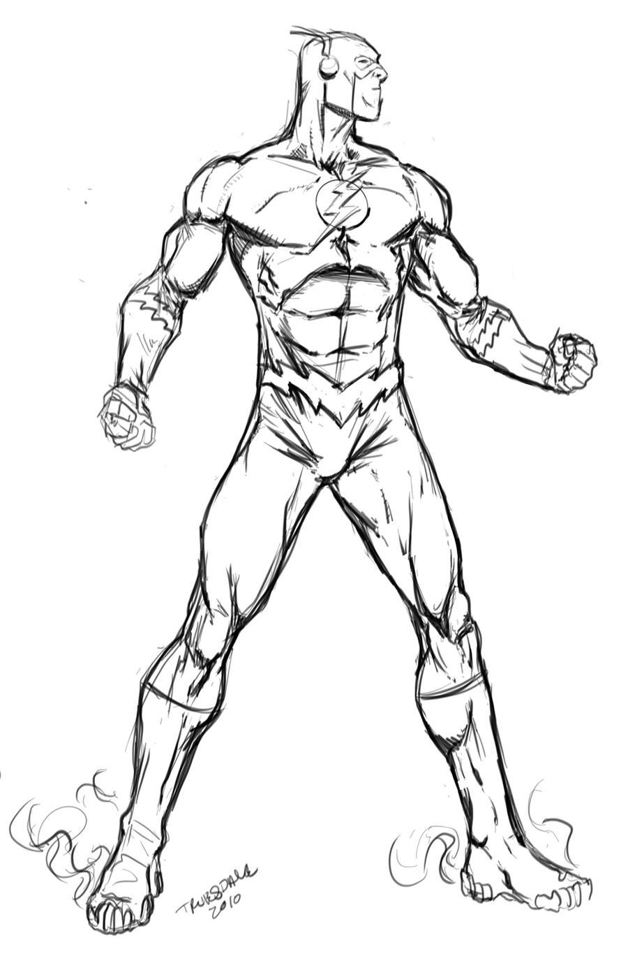 The Flash Line Art : The flash by drkwtr on deviantart