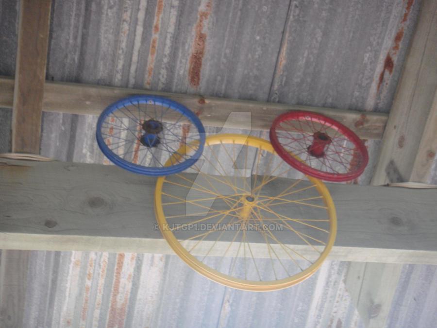 Mickey Head Bike Wheels by kjtgp1