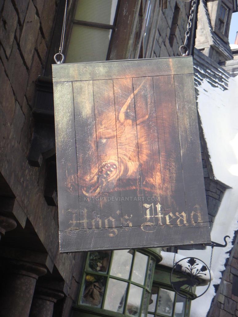 Hog's Head Sign by kjtgp1