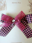 Black and Pink Check Hair Barrette