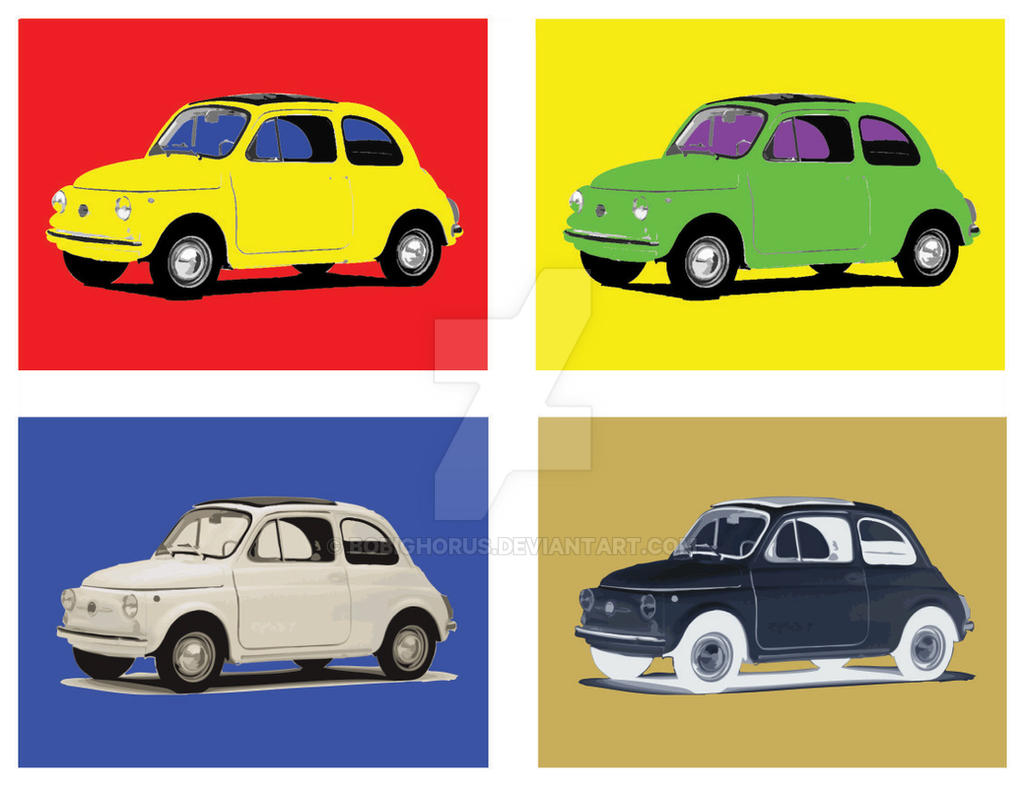 Fiat 500 Pop Art By Bobighorus On Deviantart