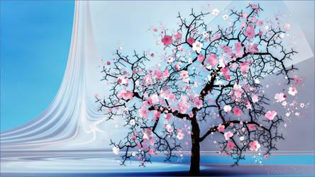 Studio Portrait of a Self-Isolating Cherry Tree