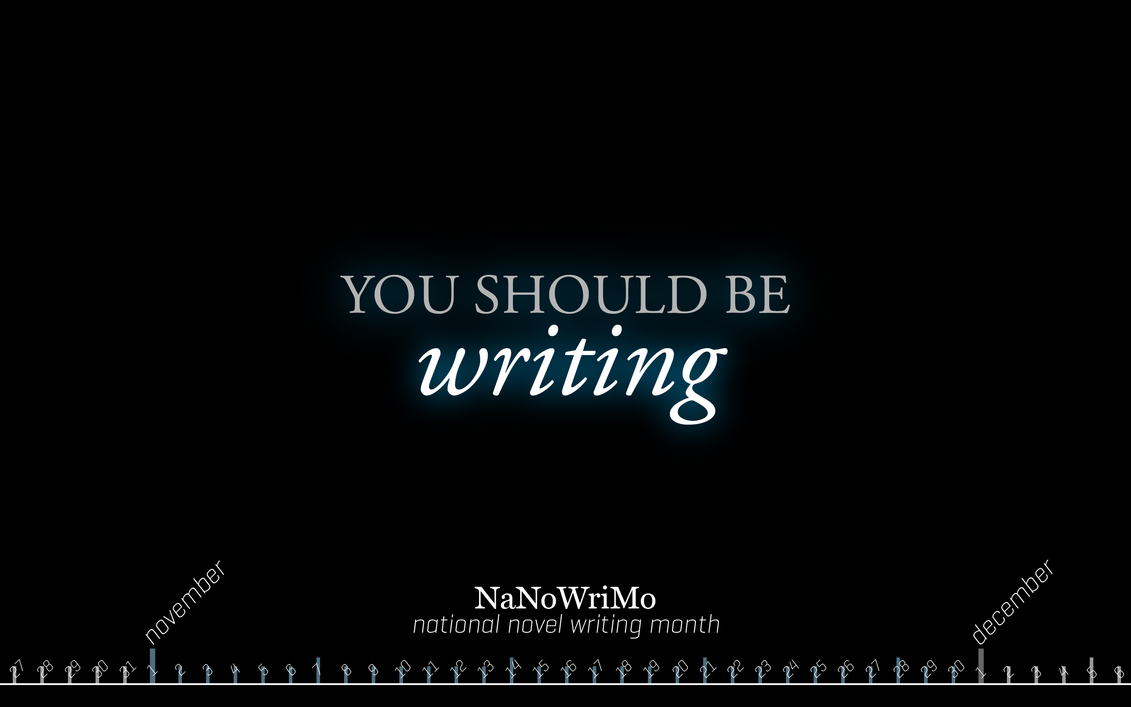 NaNoWriMo wallpaper by texnical-reasons