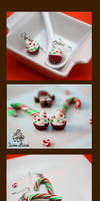 Candy Cane and Festive Cupcake Earrings by TwineBirds