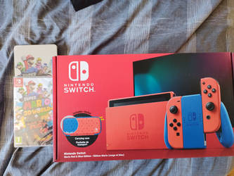 my Second Nintendo switch mario red and blue