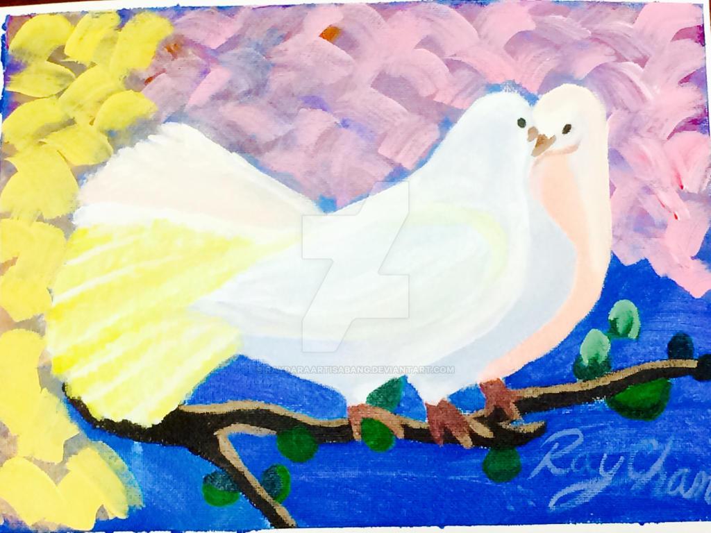 Love Doves by RaydaraArtIsABang