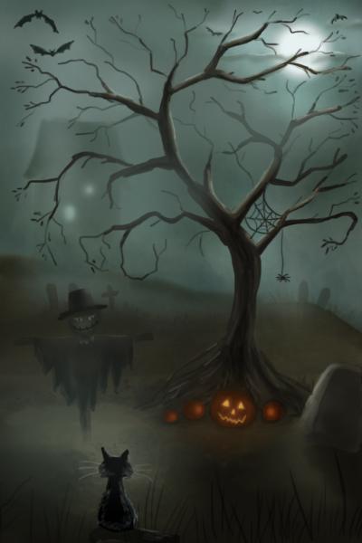 A Spooky Scene by julieexann