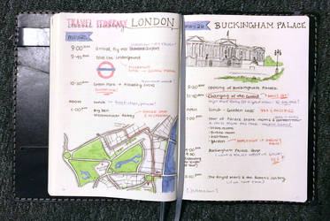 Buckingham Palace - Travel Journal Spread