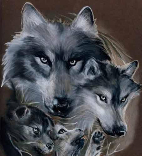 Wolf Traditional Art by ElderNargacuga