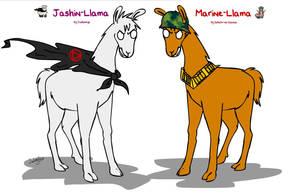 Jashin-LLama and Marine-Llama by Jashinnkyo