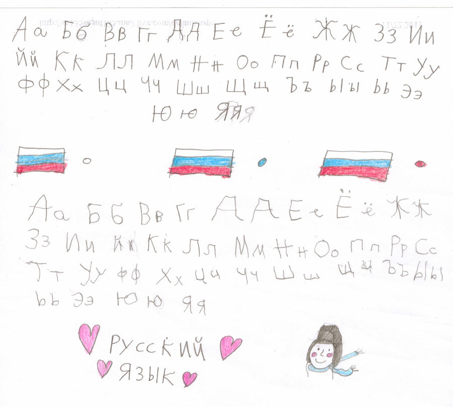 Russian Alphabet Writing Comparison and Practice by