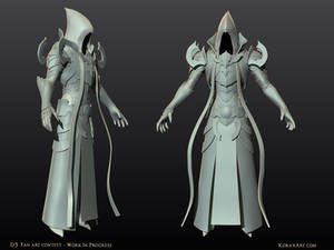 Malthael - Diablo III Fan Art Contest WIP1