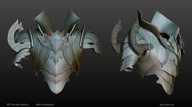 Malthael - Diablo III Fan Art Contest WIP2 Armor
