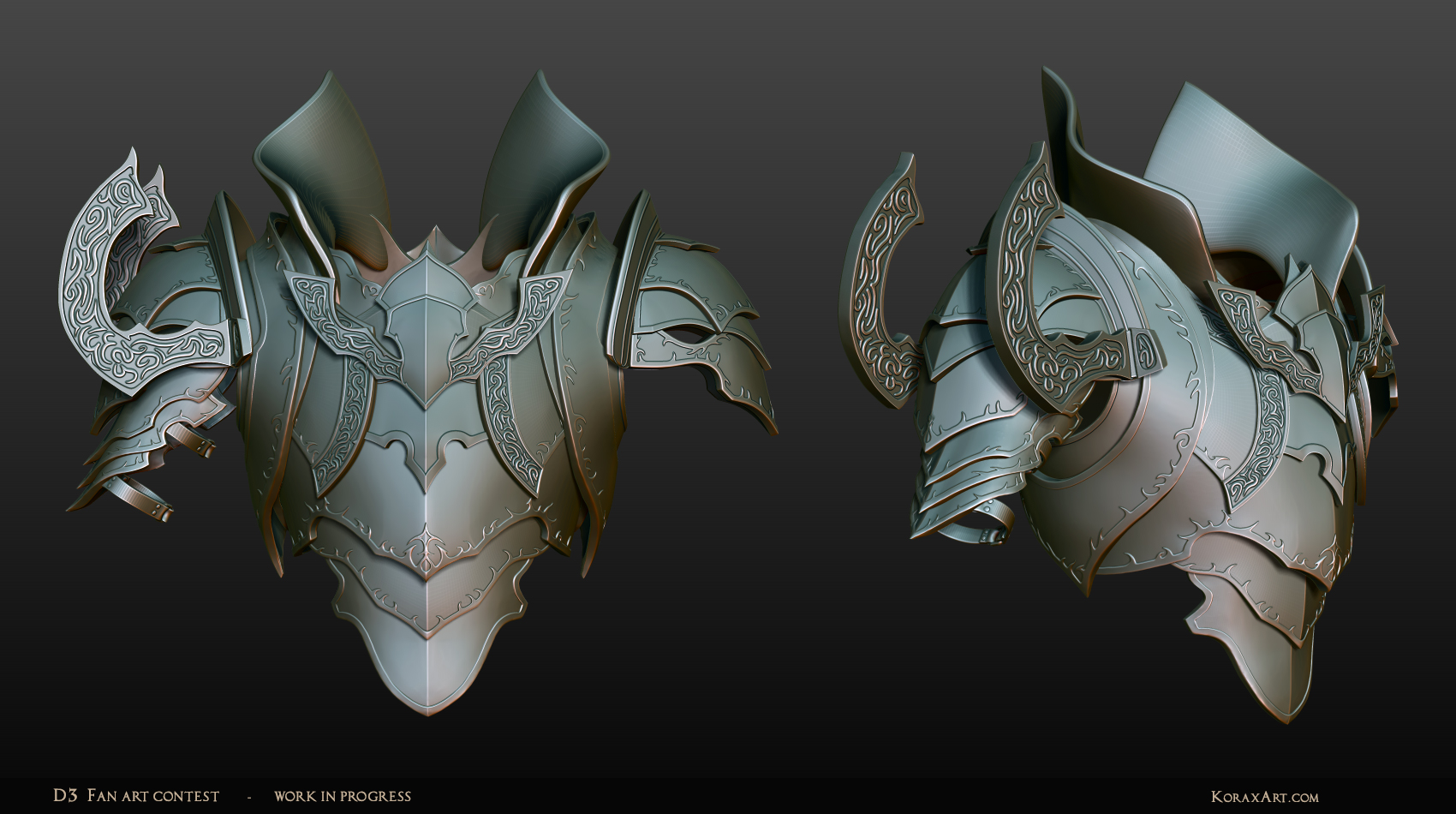 Malthael - Diablo III Fan Art Contest WIP2 Armor by KoraxArt