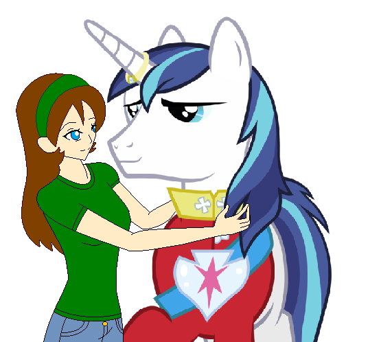 Me Giving Shining Armor A Hug by TigerPrincessKaitlyn