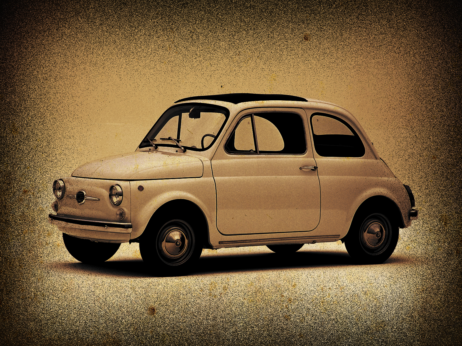 fiat 500 old style by locoarts92 on deviantart. Black Bedroom Furniture Sets. Home Design Ideas