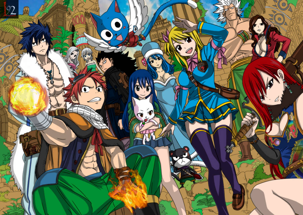 Fairy Tail Wallpaper Colored Lines By Locoarts92 On Deviantart