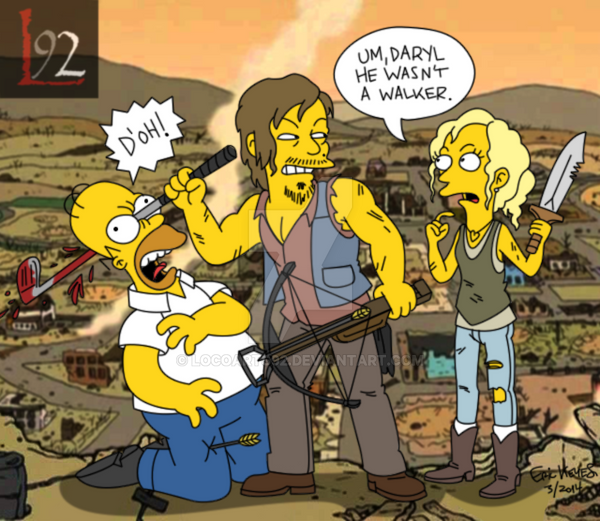 The Walking Dead Simpsonized by locoarts92