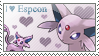 Espeon stamp by Fumiika