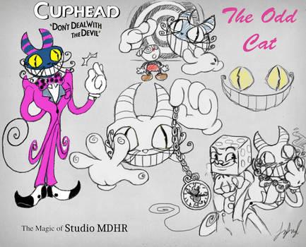 Cuphead OC: The Odd Cat by fnafmangl