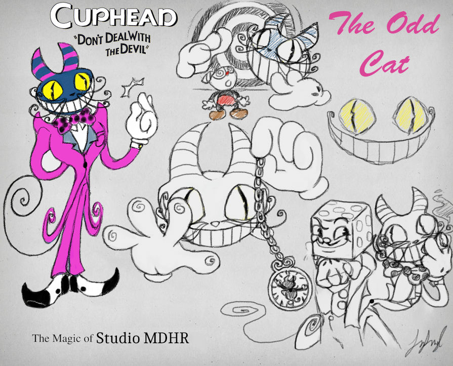 Cuphead OC: The Odd Cat