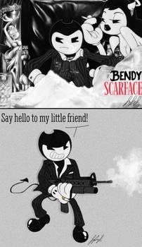 Gangsta Toons AU- Bendy Scarface
