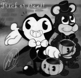 Bendy and Freddy in: Trick or treat by fnafmangl