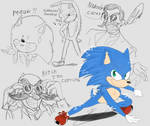 Sonic movie 2019 trailer doodles